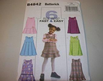 New Butterick, Girl's Dress  Pattern, 4842  CF (4-5-6) (Free US Shipping)