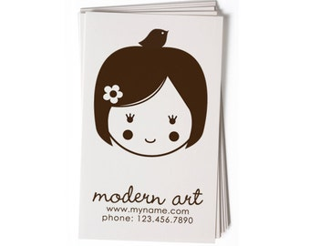 Business Card Stamp   Custom Rubber Stamp   Custom Stamp   Personalized Stamp   Doll Stamp   Girl Stamp   Any of our dolls   BC21