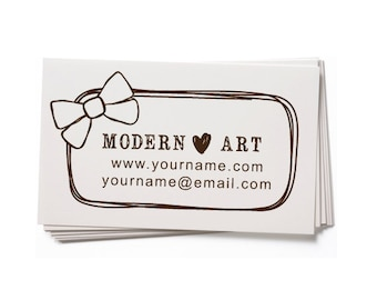 Business Card Stamp   Custom Rubber Stamp   Custom Stamp   Personalized Stamp   Bow Stamp   Hair Bow Stamp   BC63