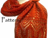 PDF Pattern - Patowmack Scarf  for Knit Lace Scarf with Beads