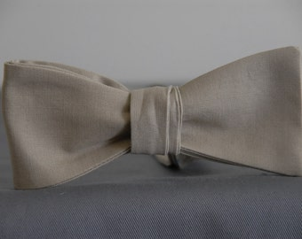 Solid Khaki  Bow tie