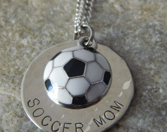 Soccer Mom Handstamped Necklace