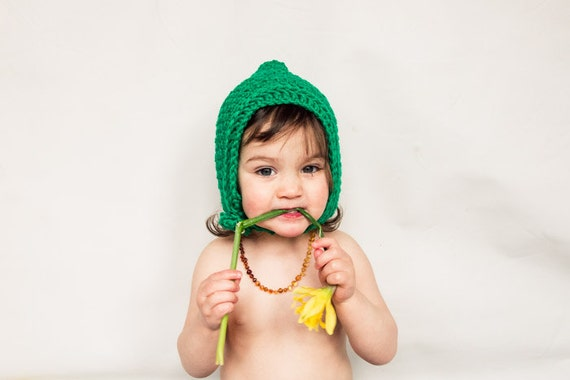 PDF Elf, Pixie, Gnome Chinstrap Hat for Baby, Toddler , Child, Adult Crochet Pattern