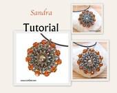 Sandra Rivoli-SuperDuo Beadwork Pendant PDF Tutorial