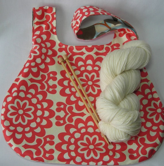 Amy Butler Knitting Bag Pattern : Knitting Crochet Project bag - Japanese Knot Bag - shawl ...