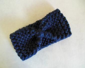 chunky hand knit turban style headband ear warmer women or children one size