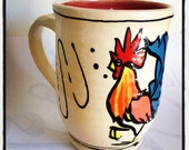 Mug: Infamous Key West Rooster Red