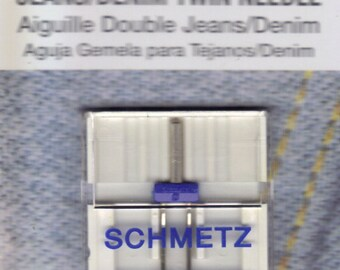 Twin Schmetz Jeans, denim sewing machine needle, Double Jeans needle