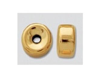 14k Gold Filled Rondelle Donut Spacers- 3mm, 24ps