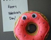 Mr. Donut Magnet - I love you like a fat kid loves cake donuts - Valentine's Magnet