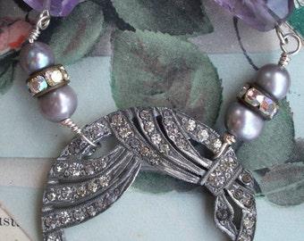 City of Lights - Vintage Assemblage Paris Souvenir Necklace