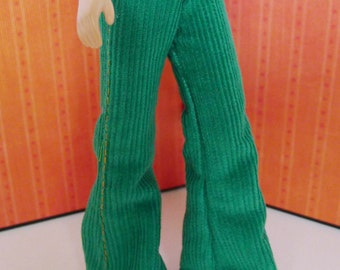Fashion Flared Corduroy Pant for Blythe - Kelly Green