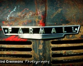 8x12 Farmall Tractor Grill photograph print - Farm Artwork - Vintage Farm Art - Farming Art - Boys Room Art - Farmall Artwork - Farmall Art