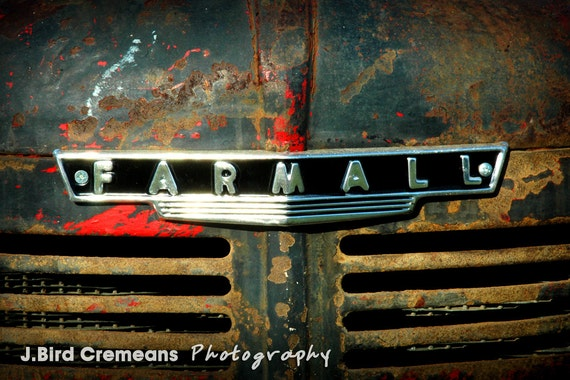 8x10 farmall tractor grill photograph print antique tractor for International harvester room decor
