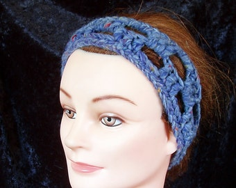 Headband - lacey crochet  - great for jogging - READY TO SHIP