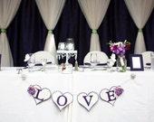 Wedding Banner Wedding Garland LOVE Anniversary Head Table Home Decor Photo Prop