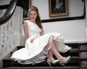 Sample Sale - Holly - 1950s Tea Length Wedding Dress