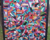 Art Quilt Crazy Modern Abstract Organized Chaos Handmade Quiltsy