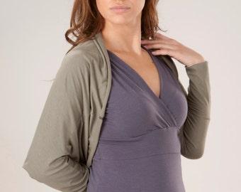 Long Sleeve Bolero Shrug - Organic Clothing Made to Order - Many Colors to Choose From