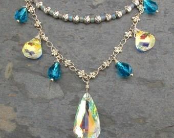 Swarovski Crystal Sterling Silver Necklace - Bohemian Bling