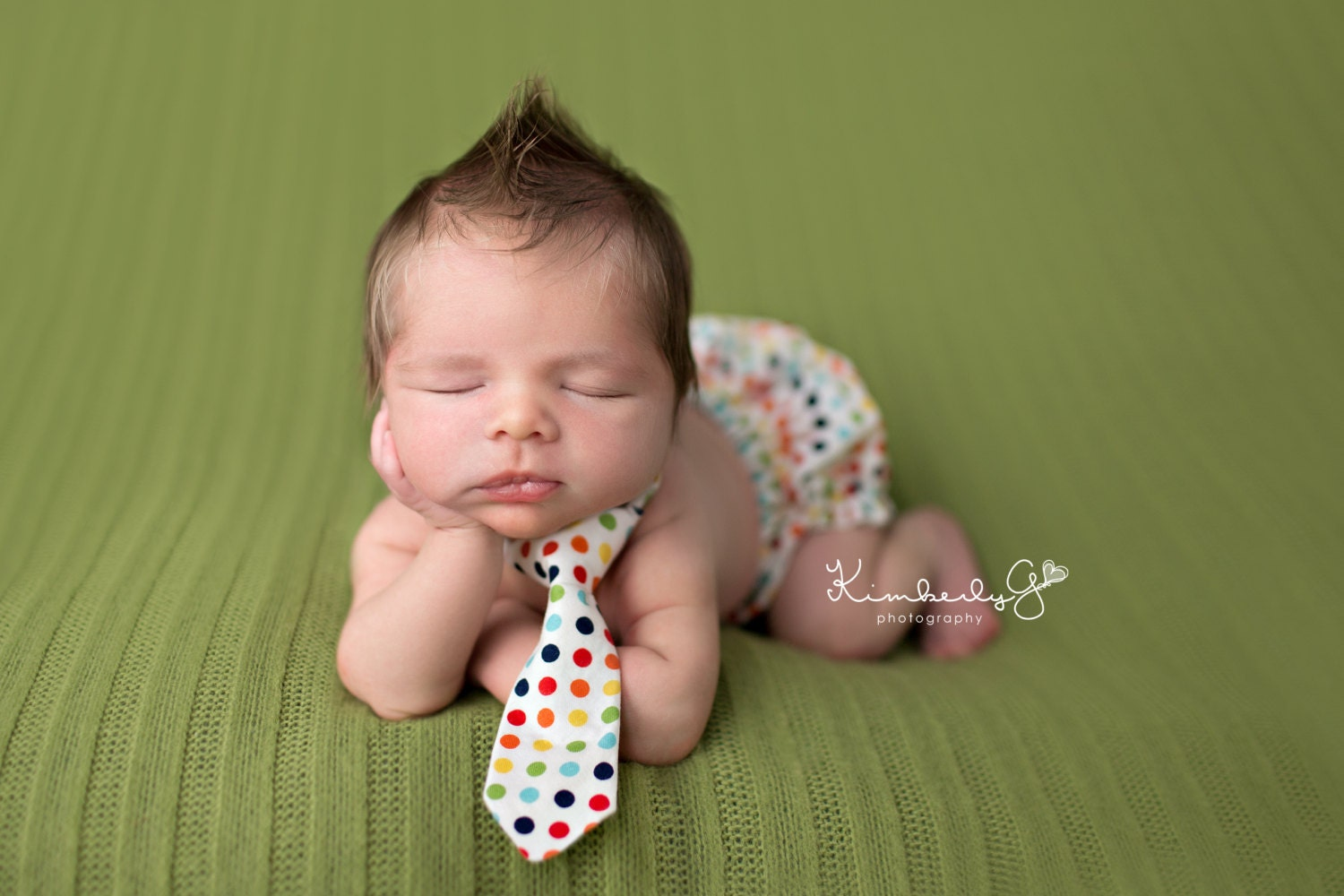 Scotty Polka Dot Newborn Boy Photography Prop Neck Tie 0 3