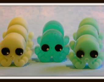 OCTOPUS SQUID Soaps - 8 Boy Or Girl Party Favors Soaps - Kids - Children - Glow In Dark - Handmade Soap Gift - Sea Life - Custom Order Only