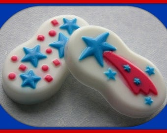 SHOOTING STAR SOAP Set - Independence Day Scented - 4th of July - Picnic - Patriotic - Party - Red White & Blue Soaps