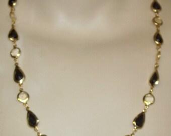 Vintage Demi Parure Necklace Clip On Dangle Earrings Set