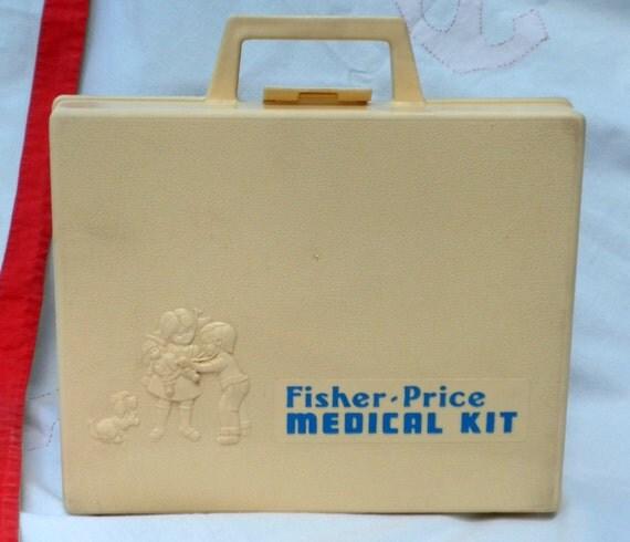 vintage toy medical kit 1977 Fisher Price doctor/nurse kit