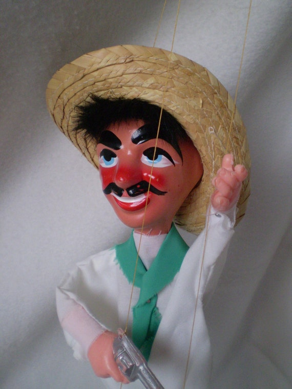 Sale Vintage Mexican Marionette String Puppet