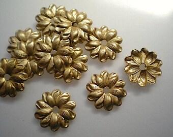 12 brass mirror rosettes, No. 10 - small