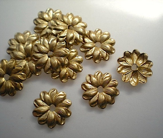 12 brass mirror rosettes, No. 10 - small steampunk buy now online