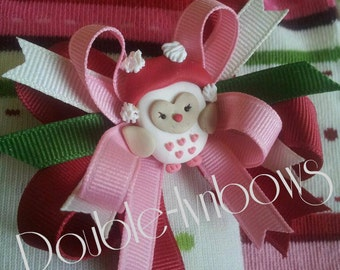 Cozy Owl M2M Gymboree hairbow from Double-lynbows