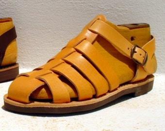 Greek handmade Roman leather sandals for men - NEW STYLE