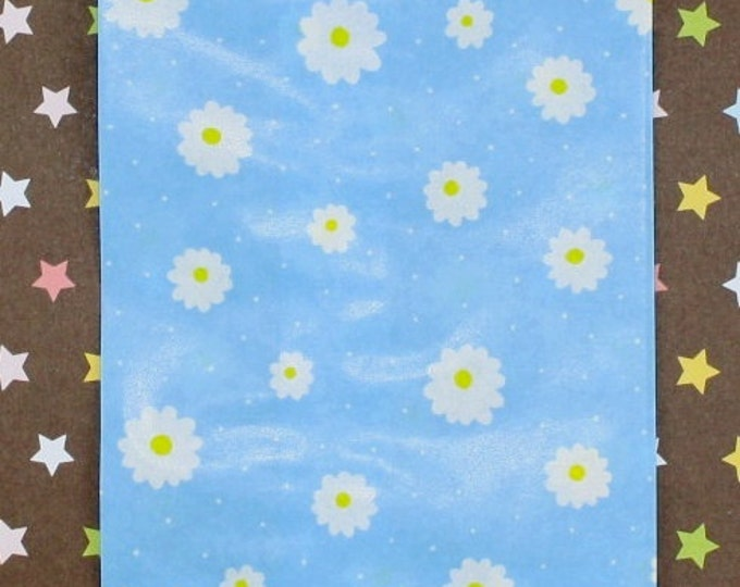 Daisy Baby Blue Paper Bags