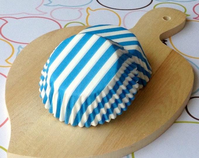 Sky Blue Stripe Standard Cupcake Liner