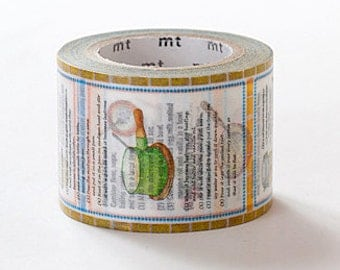 mt ex Washi Masking Tape - Recipe