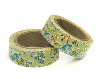 Liberty of London Fabric Masking Tape - Tatum in Green - Set 2