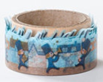 Round Top Masking Tape - Marching Band in Town - Die Cut