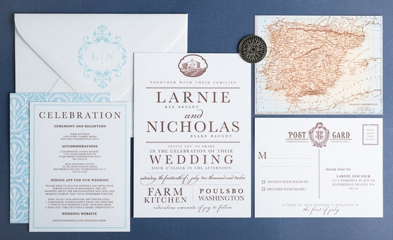Wedding Invitations Spanish: Wedding Invitation Old World Spanish Wedding Collection