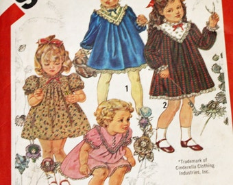 Vintage 1980s, Sewing Pattern, Simplicity 5629, Cinderella Dress, Toddlers' Size 3, UNCUT, FF