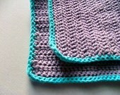 Crochet Cotton Washcloths, Set Of Two