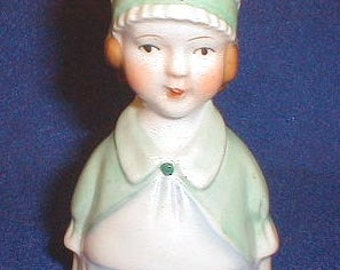 Vintage   Figural China Bell   The Maid  30s 40s  Collectible