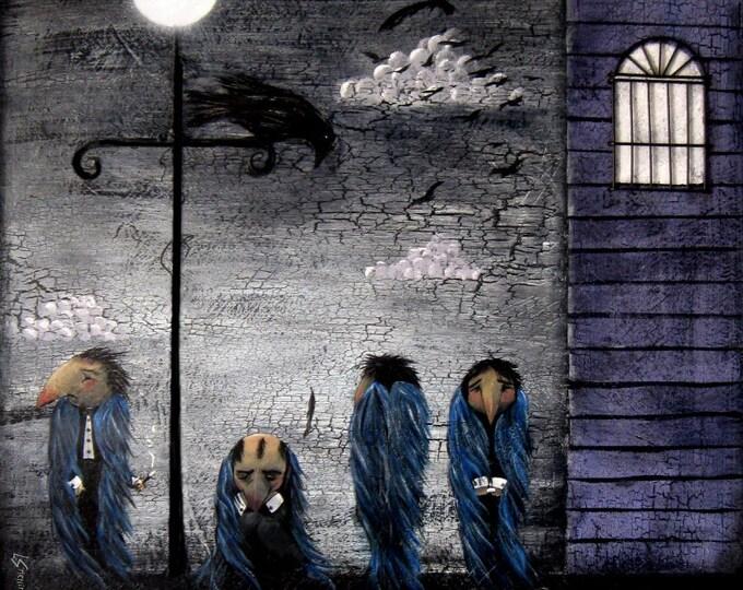 Crows Murder - 8 x 8 Print Lisa Snellings