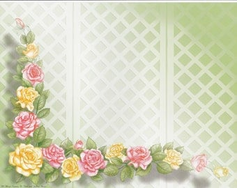 "First Name Meaning Print ""Pink and Yellow Roses"""