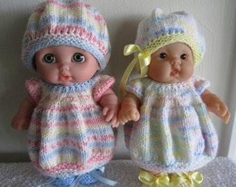 Baby Doll Knitting Pattern Bubble Dress Set for 8 inch Lots to Love and Lil Cutesies Baby Dolls Berenguer