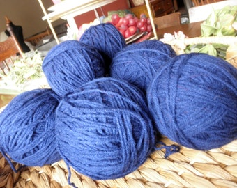 Yarn - Navy Blue Acrylic Yarn