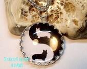 Welsh Corgi Yin And Yang Necklace Or Key Chain