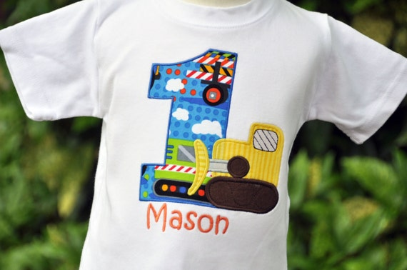Personalized Bulldozer Kids Birthday Shirt / Construction