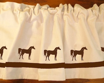 Arabian / Arab Horse Window Valance Curtain - In Your Choice of Colors